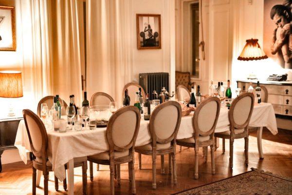 ホ-ムパーティの食卓