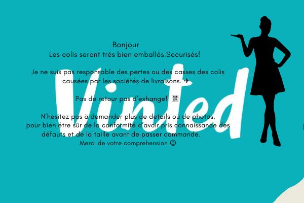vintedのプロフィール欄に書いた文字と女性のシルエット