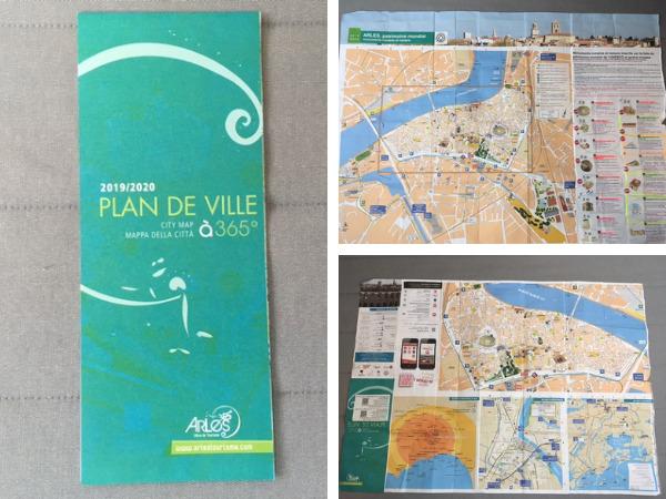 アルル市内の地図
